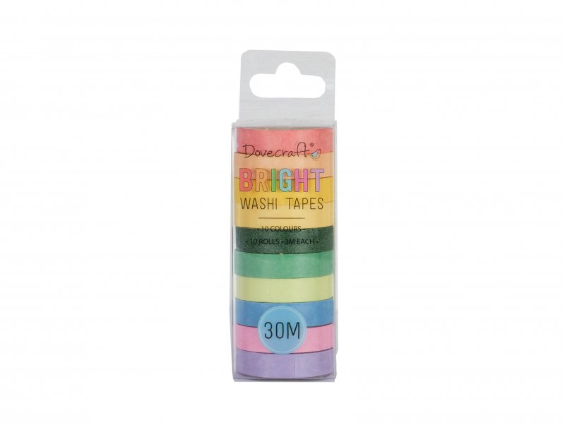10 Washi Tape colori brillanti