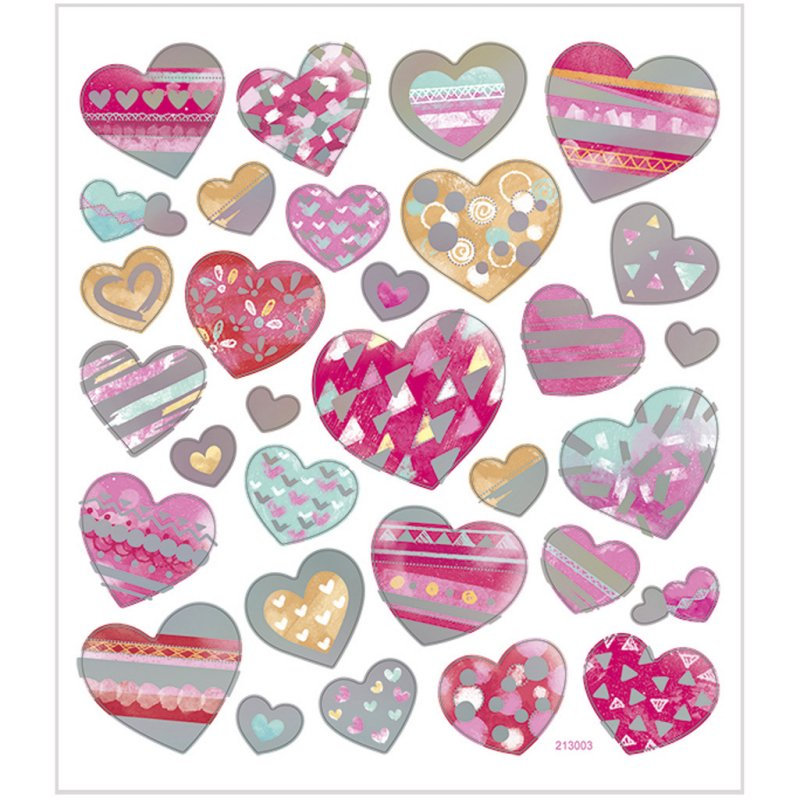 Set Stickers Hearts