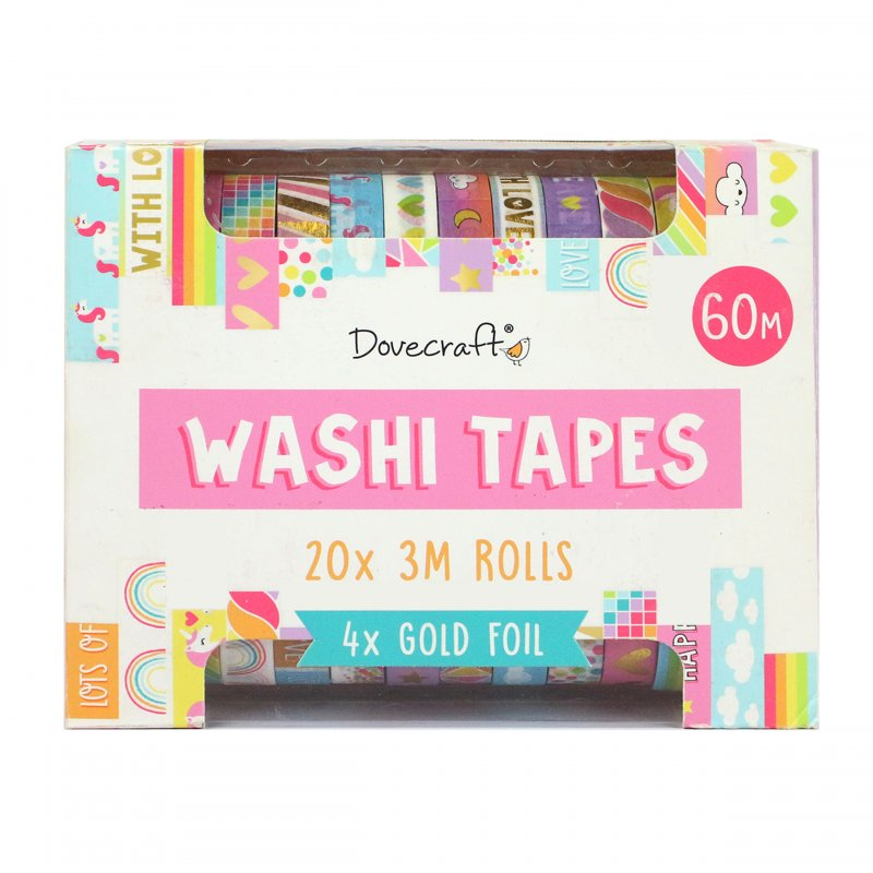 20 Washi Tape colori brillanti