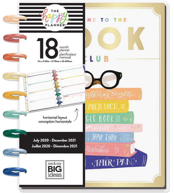Classic Horizontal Happy Planner® -BOOKISH - 18 Months