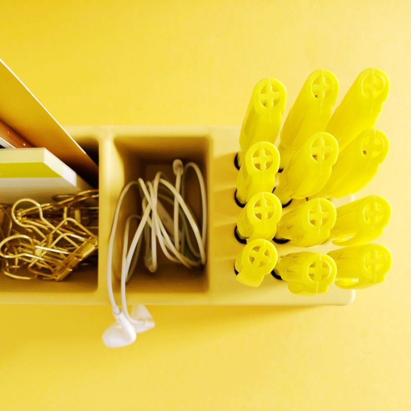 Desk Organizer in Bamboo GIALLO