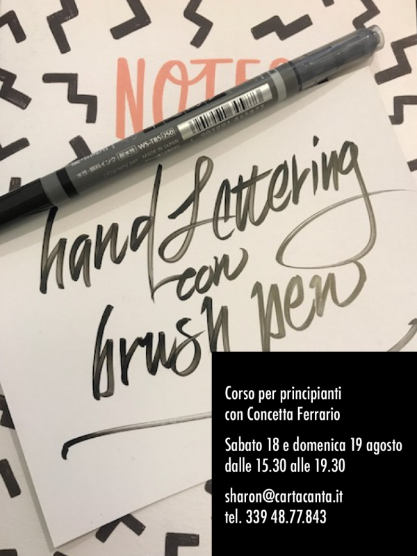 Hand Lettering con il Brush Pen