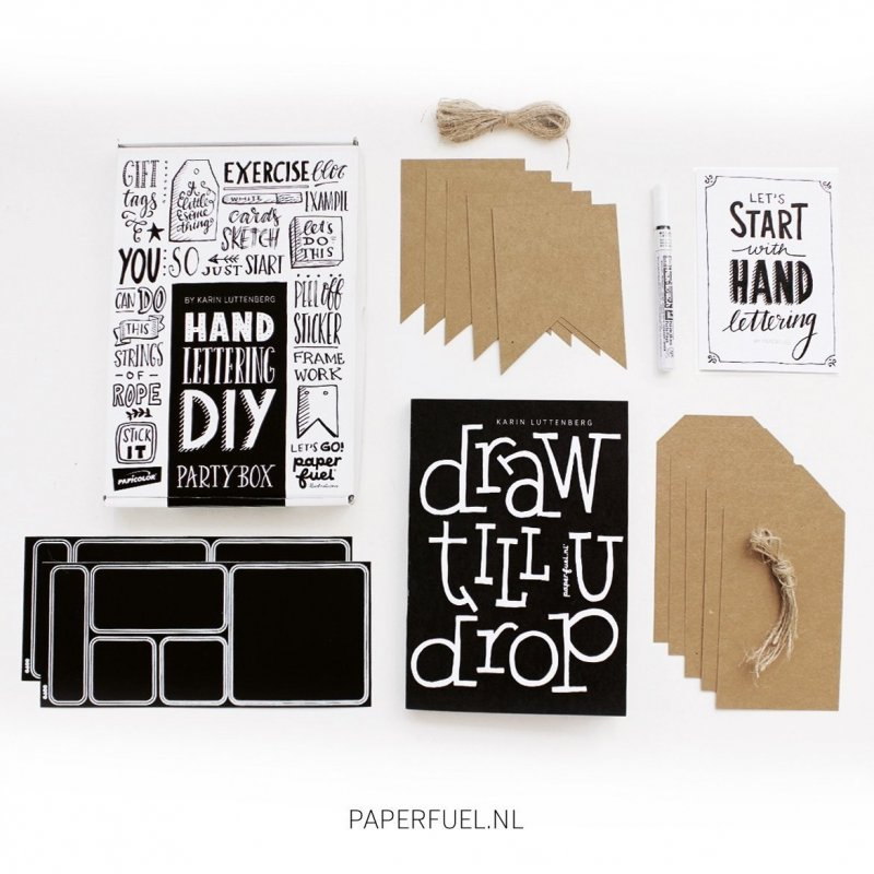 Handlettering PARTY BOX