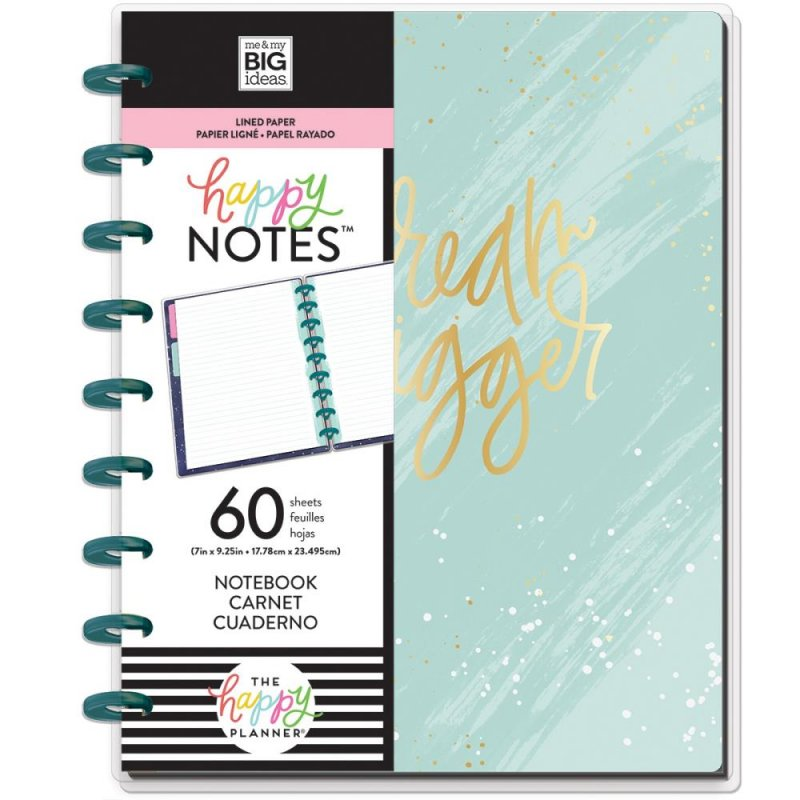 happy planner NOTEBOOK Medium - Dream Bigger Educational- a righe