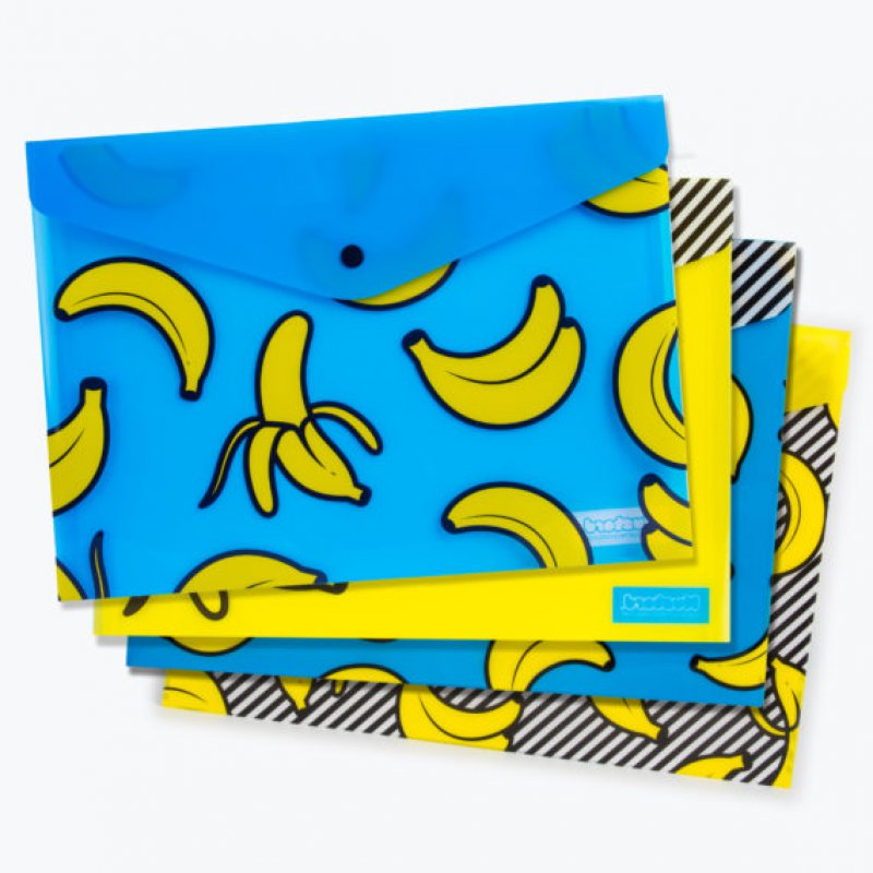 Set 4  Buste A4 - Banana