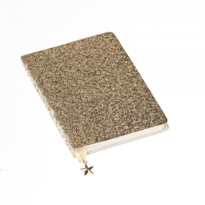 Notebook A5 - Glitter Gold