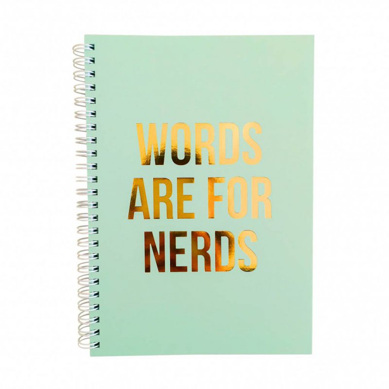 Notebook A5 WORDS ARE FOR NERDS