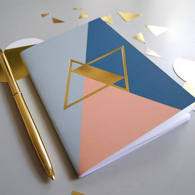 Notebook A6 - Golden Blu