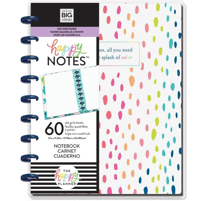 happy planner NOTEBOOK Medium - Alittle splash of colour . puntinato