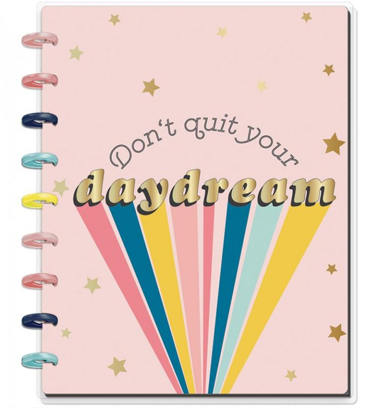 happy planner NOTEBOOK Medium - Don't quit your dream puntinato