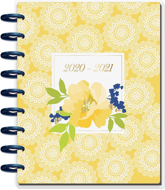 Classic Vertical Hourly Happy Planner® - Pretty Preppy - 18 Months CON ORARI
