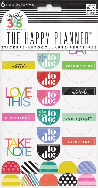 5 fogli Stickers per Planner - TO DO