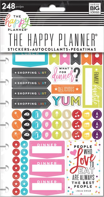 5 fogli Stickers per Planner - WHAT'S FOR DINNER?