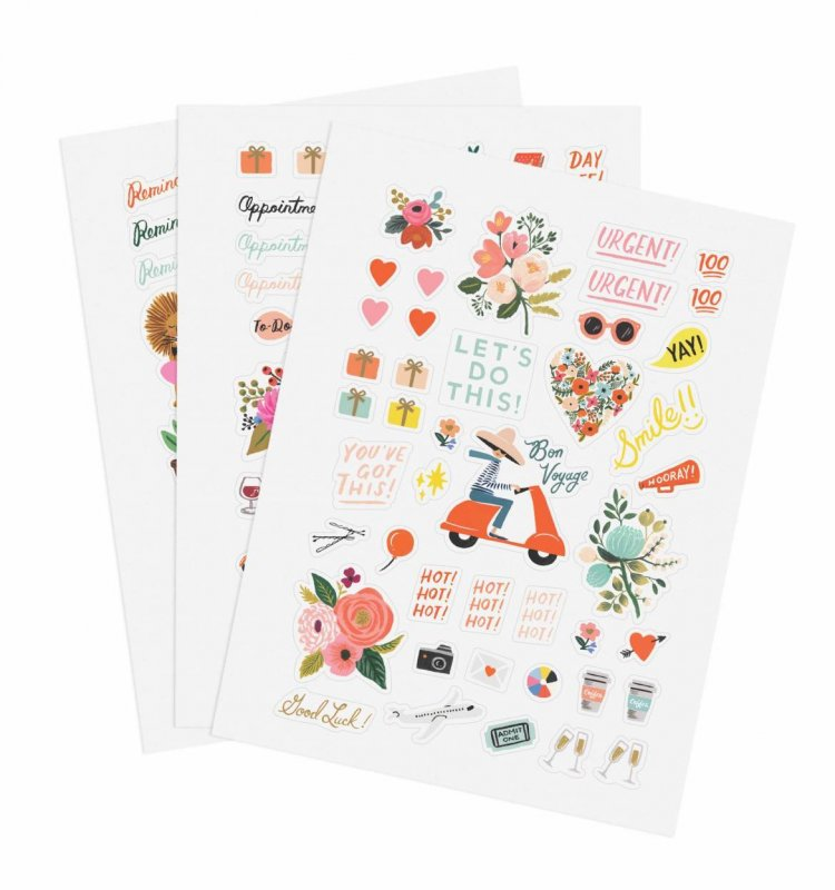 128 STICKERS  Garden Party