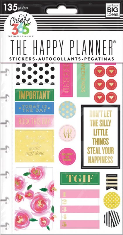 5 fogli Stickers per Planner - MAKE IT HAPPEN