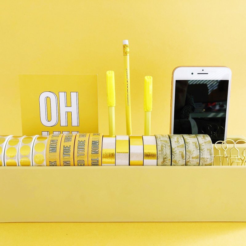 Organizer WASHI TAPE GIALLO
