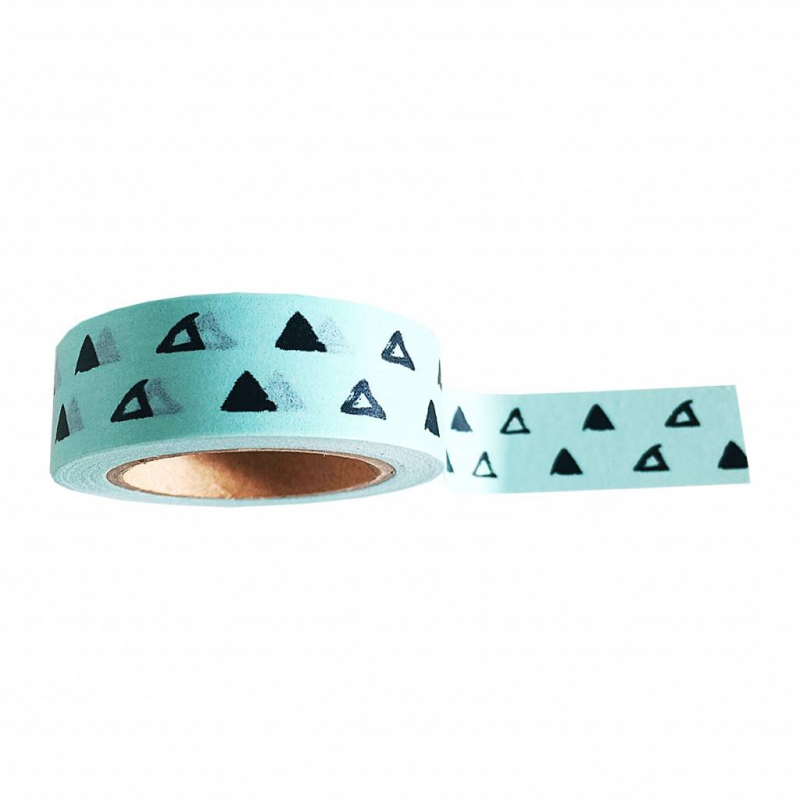 washi tape verde menta con decori