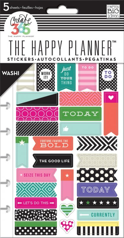 5 fogli Stickers per Planner - washi tape